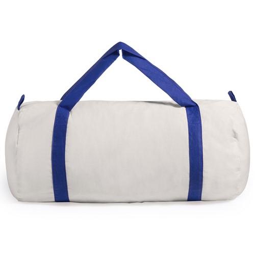 Bolsa de algodón con asas de color azul