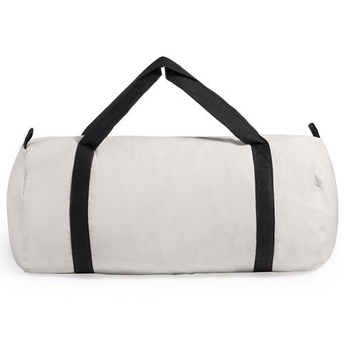 Bolsa de algodón con asas de color negro