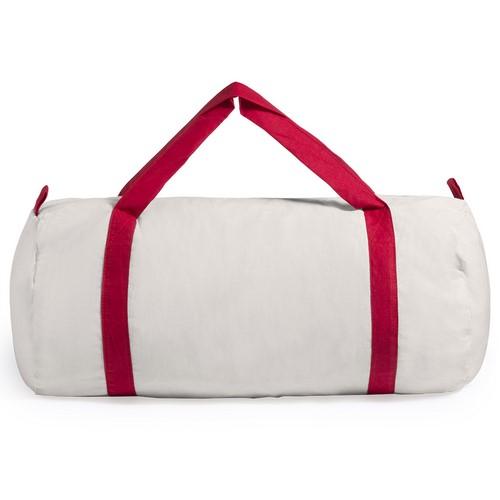 Bolsa de algodón con asas de color rojo