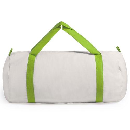 Bolsa de algodón con asas de color verde