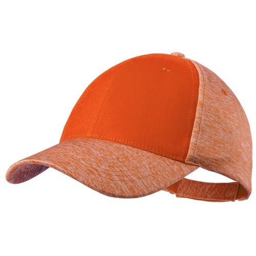 Gorra de poliéster colores naranjas