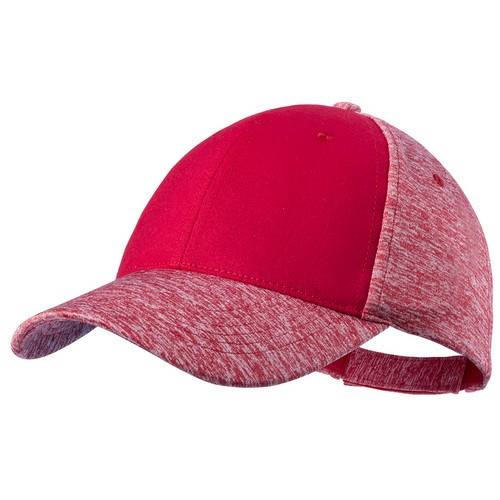 Gorra de poliéster colores rojos