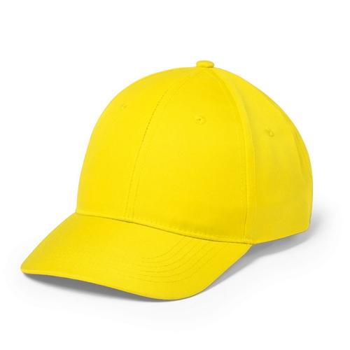 Gorra amarilla de 6 paneles con cierre de velcro