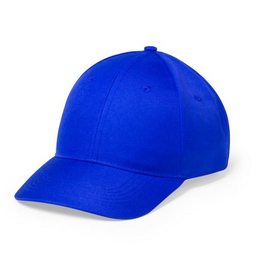 Gorra azul de 6 paneles con cierre de velcro