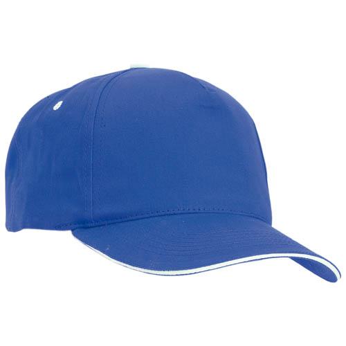 Gorra algodón con cierre de velcro, color azul