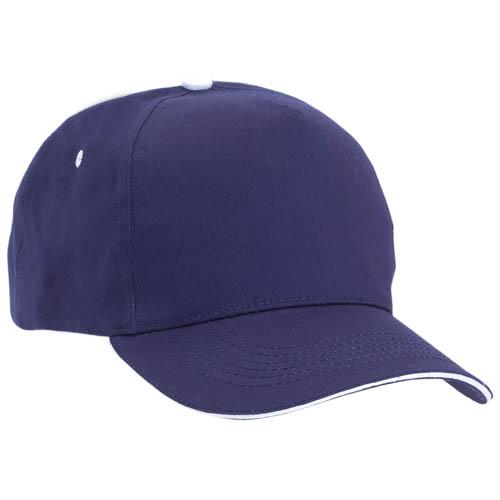 Gorra algodón con cierre de velcro, color azul marino