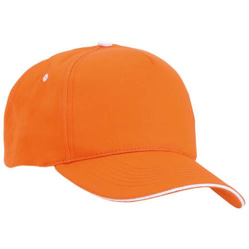 Gorra algodón con cierre de velcro, color naranja