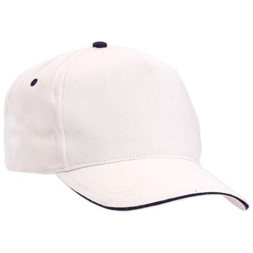 Gorra algodón con cierre de velcro, color blanco