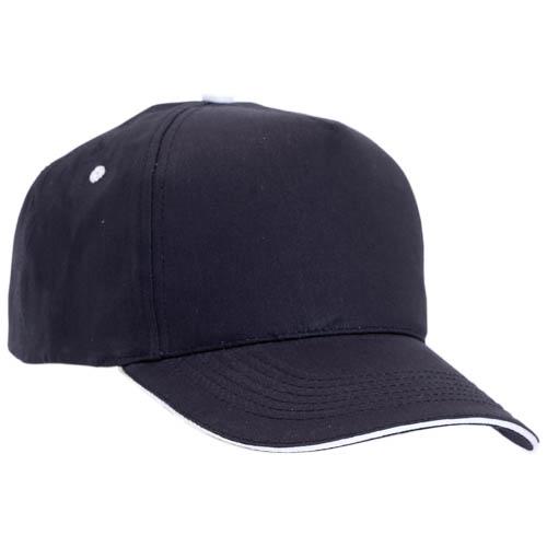 Gorra algodón con cierre de velcro, color negro