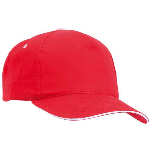 Gorra algodón con cierre de velcro, color rojo