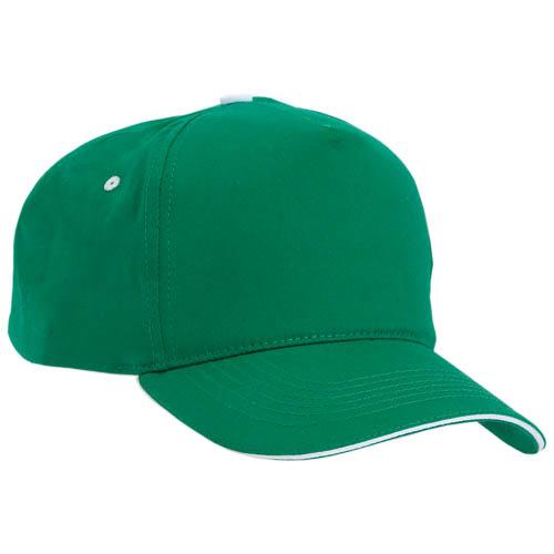 Gorra algodón con cierre de velcro, color verde