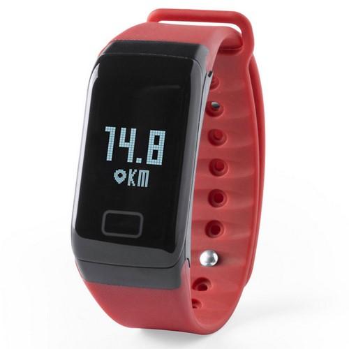 Reloj inteligente deportivo, color rojo