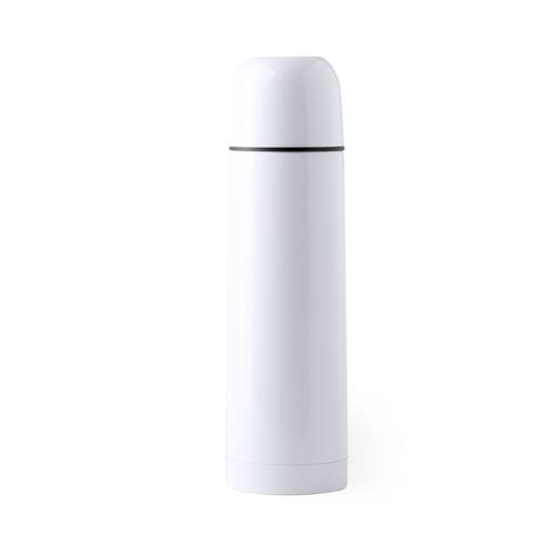Termo acero inox. 500 ml. De color blanco