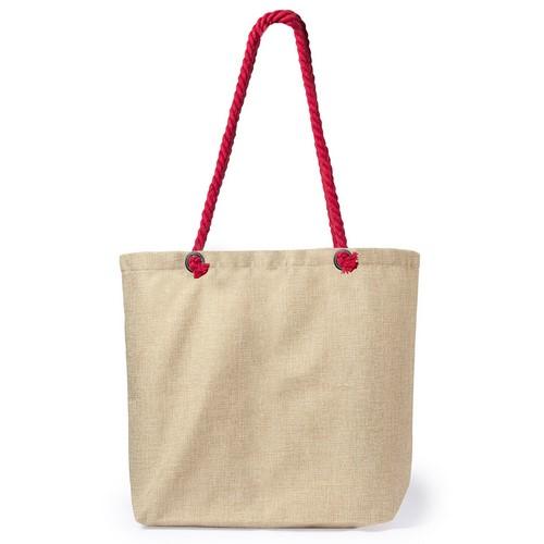 Original bolsa para playa con un bonito acabado bicolor