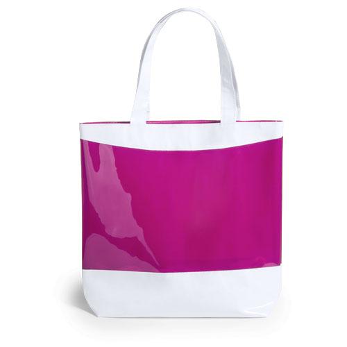 Bonita y original bolsa con un bonito diseño bicolor, en PVC