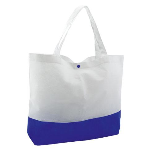 Bolsa bicolor con cierre de corchete, asas 45 cm