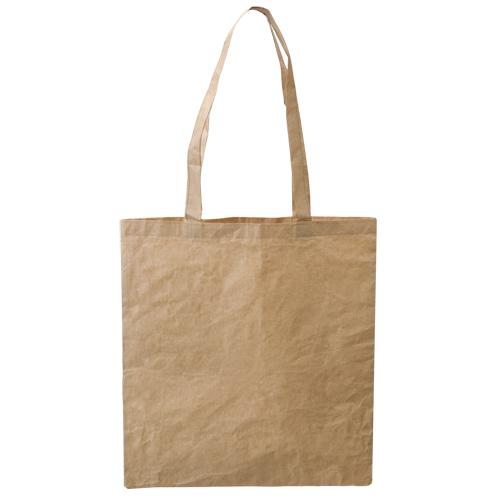 Bolsa ecológica de algodón y papel, color natural